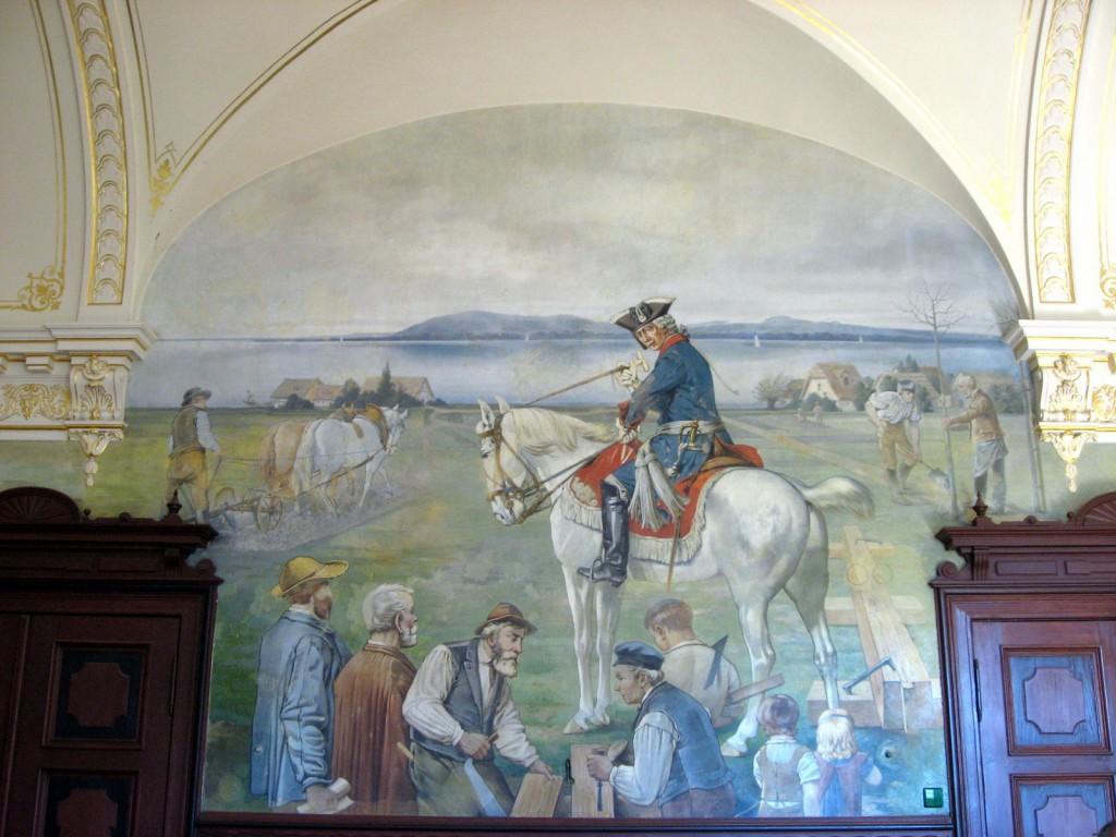 Wandbild im Ratssaal