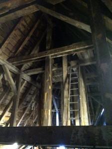 "Dachstuhl zum ""Glockentürmchen"" | Foto K. Kreßner"