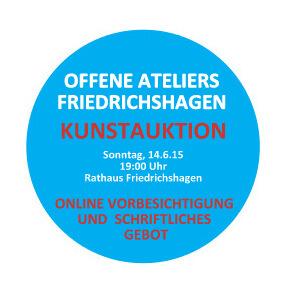 Offene Ateliers - Kunstauktion am 14. Juni: Online-Vorbesichtigung und schriftliches Gebot