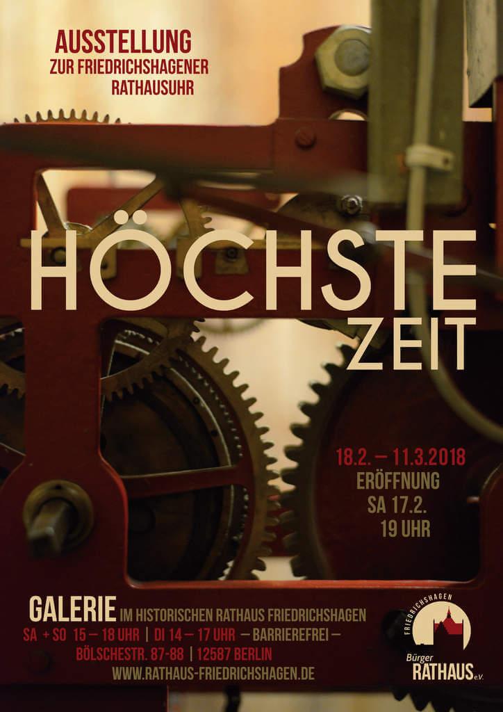 Plakat zur Ausstellung Rathausuhr 2018