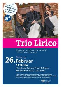 Benefiz-Konzert: Trio Lirico @ Ratssaal hist. Rathaus Friedrichshagen | Berlin | Berlin | Deutschland