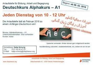 Deutschkurs für Zugewanderte / Alphabetisierung bis A1 @ Etage 1, Raum 3, hist. Rathaus Friedrichshagen | Berlin | Berlin | Deutschland