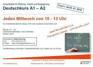 Deutschkurs für Zugewanderte / Alphabetisierung A1-A2 @ Etage 1, Raum 3, hist. Rathaus Friedrichshagen | Berlin | Berlin | Deutschland