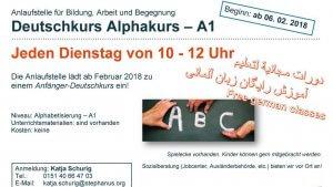 2018-Deutschtreff Stephanus-Stiftung Kurs Dienstag