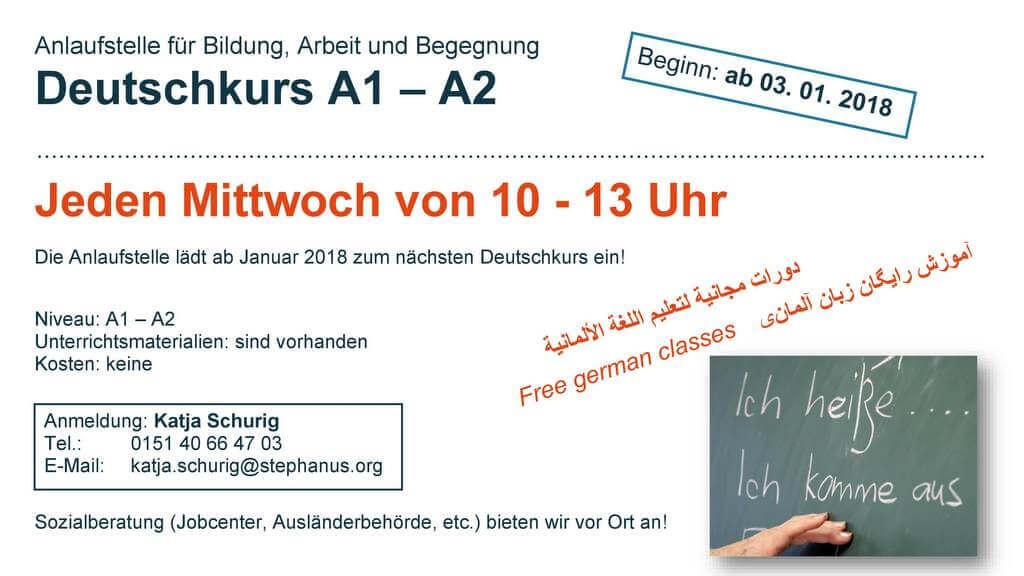 2018-Deutschtreff Stephanus-Stiftung Kurs Mittwoch