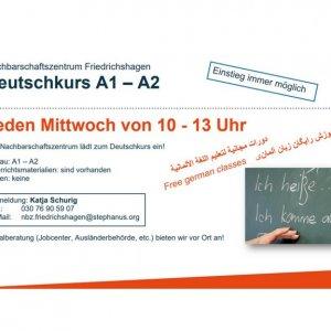 10-13 Uhr Deutschkurs / Alphabetisierung A1-A2