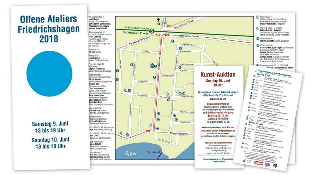 Offfene Ateliers Friedrichshagen 2018-Flyer-Titel