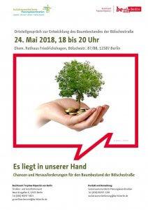 2018-05-24-Plakat Ortsteilgespraech Baumbestand Friedrichshagen