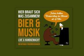 Ab 17 Uhr: BIER & MUSIK - live & handgemacht