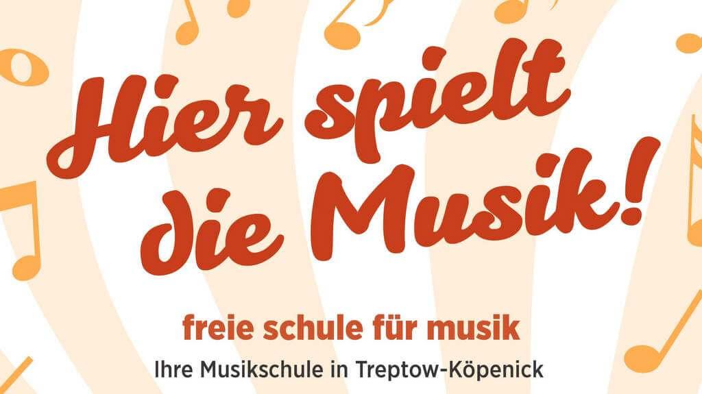 Titel Plakat freie schule fuer musik