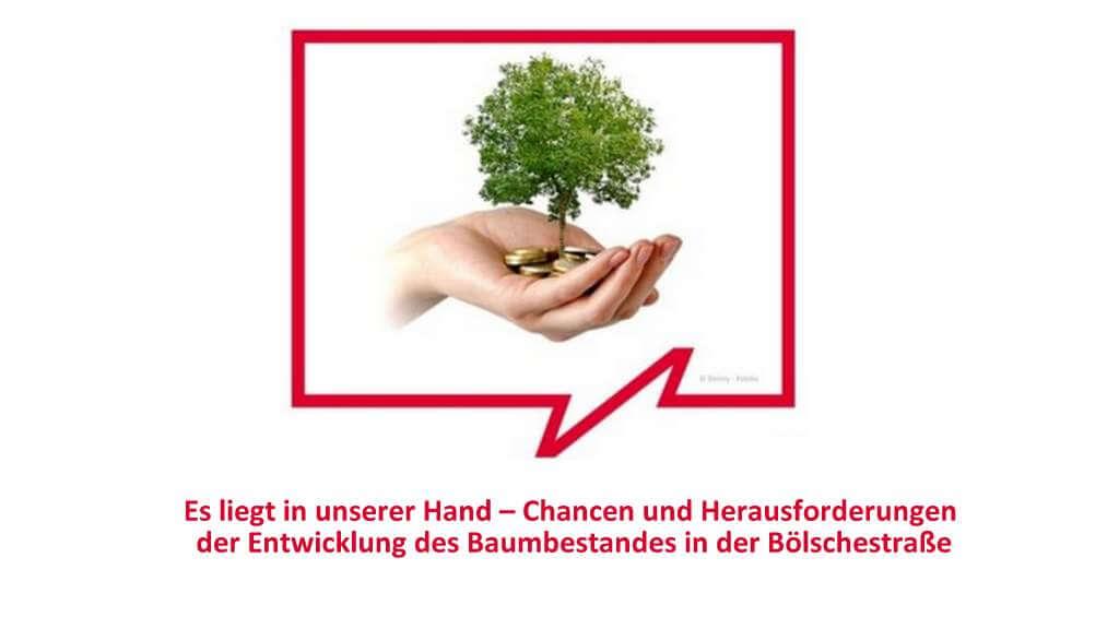 18 Uhr: Ortsteilgespräch Entwicklung Baumbestand Bölschestraße - Teil 2
