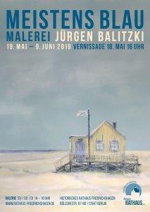 2019-05-Plakat Balitzki-Meistens Blau-Austellung Rathaus Friedrichshagen